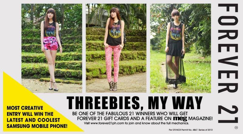 Threebies My Way Contest Page