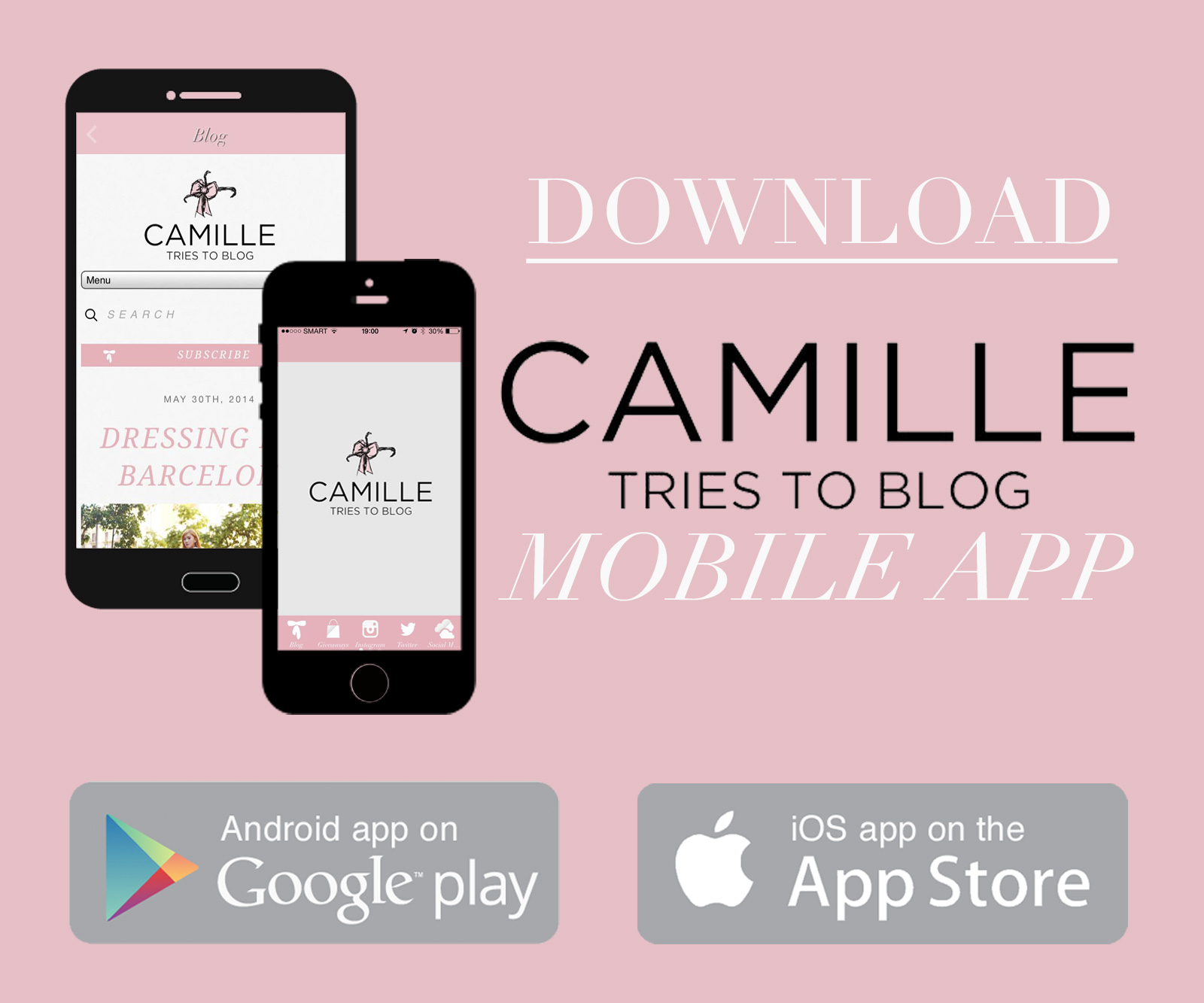 Camille Tries To Blog Mobile App