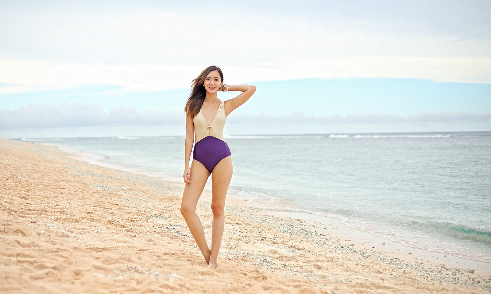 Soak Swimwear swimsuit at Coco Palm Garden Beach, Guam | www.itscamilleco.com