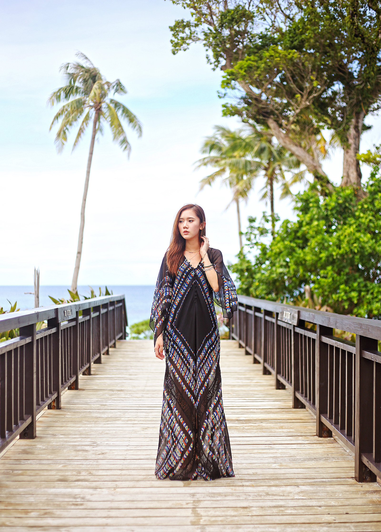 Boho Chic in BCBG Maxi Dress At Balesin | www.itscamilleco.com