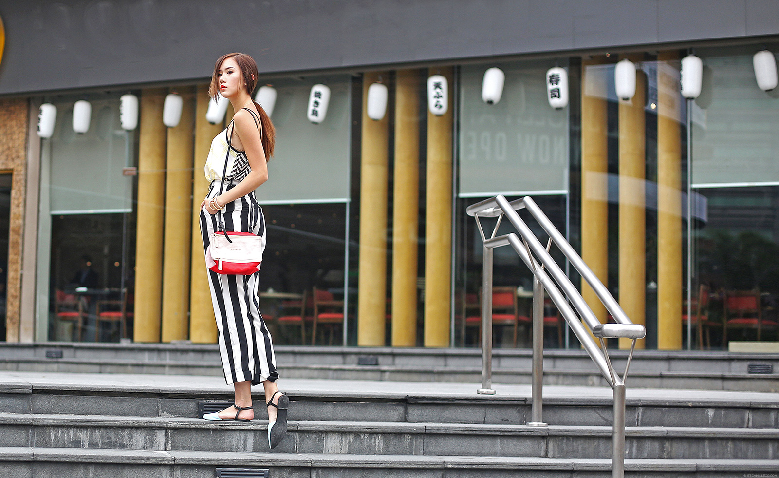 Topshop Cami, Femmex Trousers, Givenchy bag, Shoe Nga flats | www.itscamilleco.com