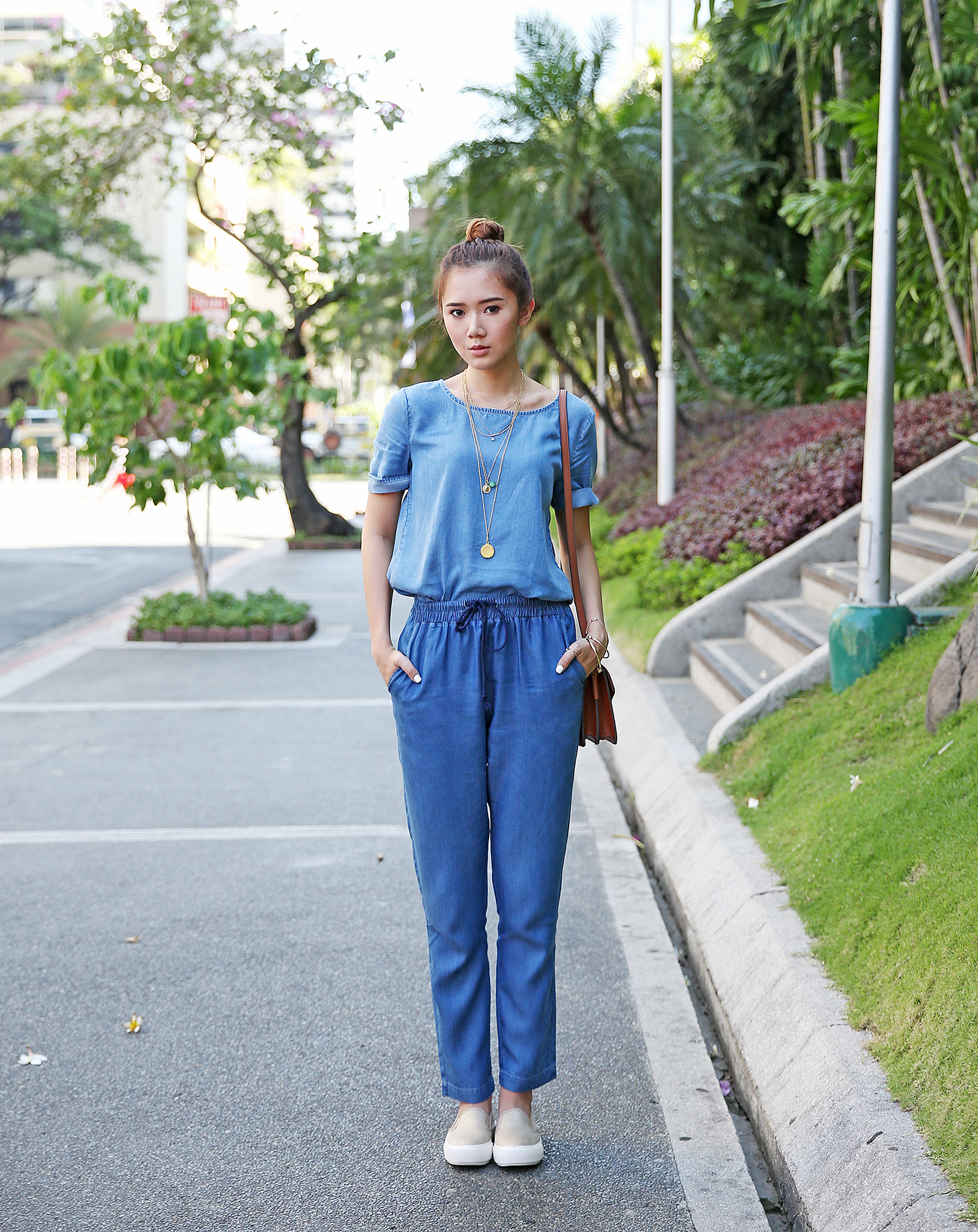 Mango all-denim look for travel | www.itscamilleco.com