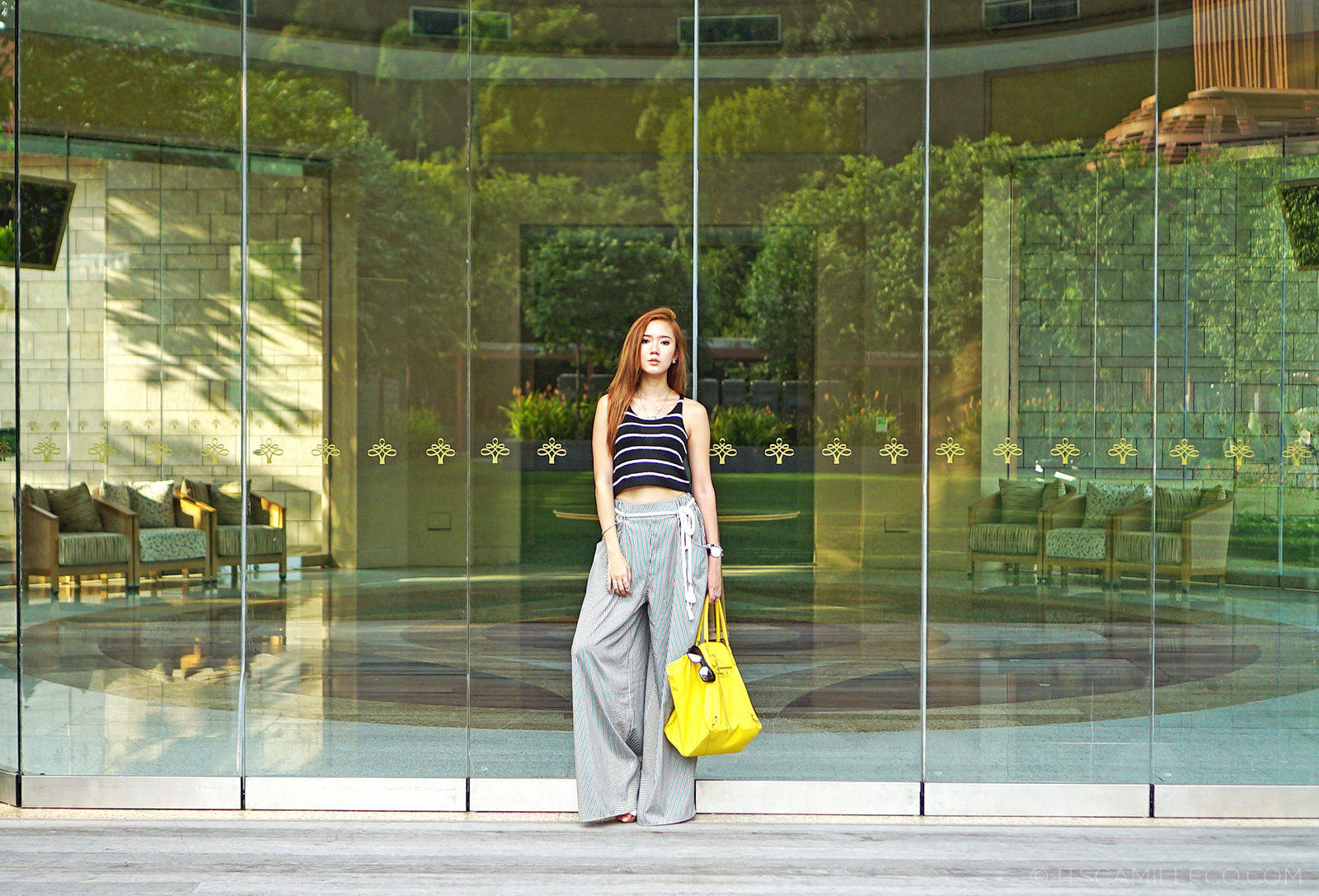 La La Land top, Zara trousers, Balenciaga Papier bag, Hachill sunglasses | www.itscamilleco.com