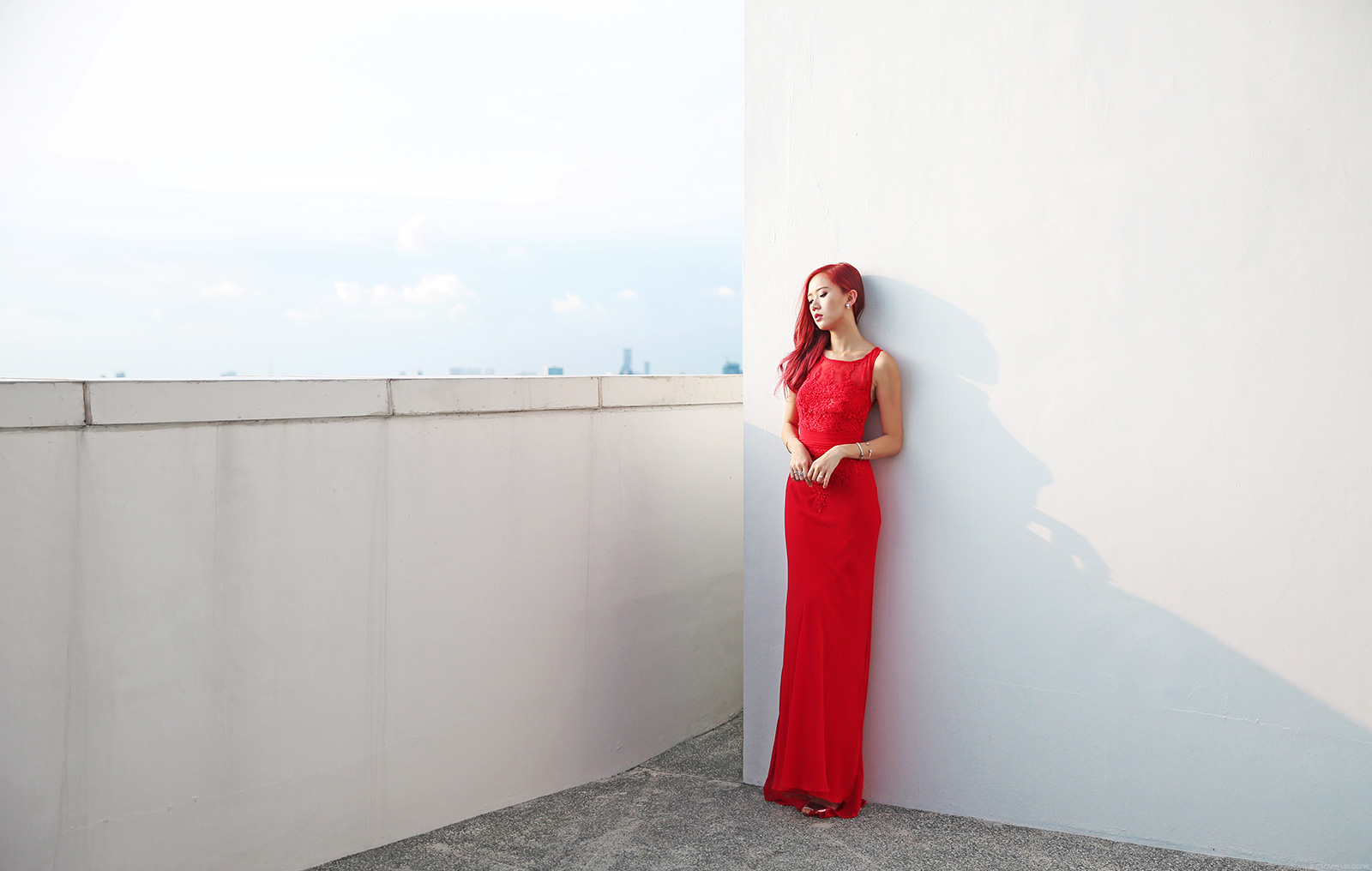 Ever Pretty Red Lace Gown - www.itscamilleco.com