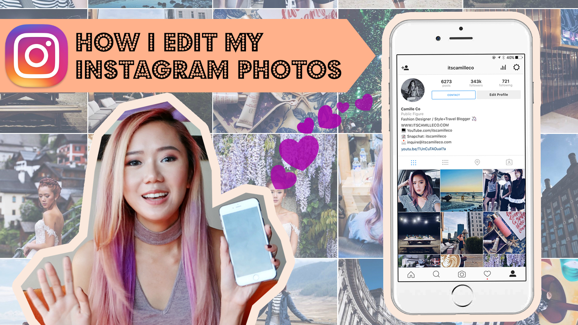 How I Edit Instagram Photos - Camille Co www.itscamilleco.com