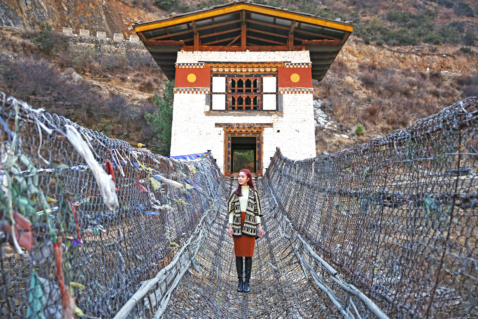 Iron Chain Bridge Bhutan - www.itscamilleco.com