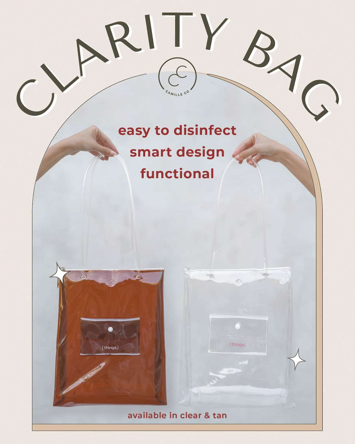 Clarity bag disinfection