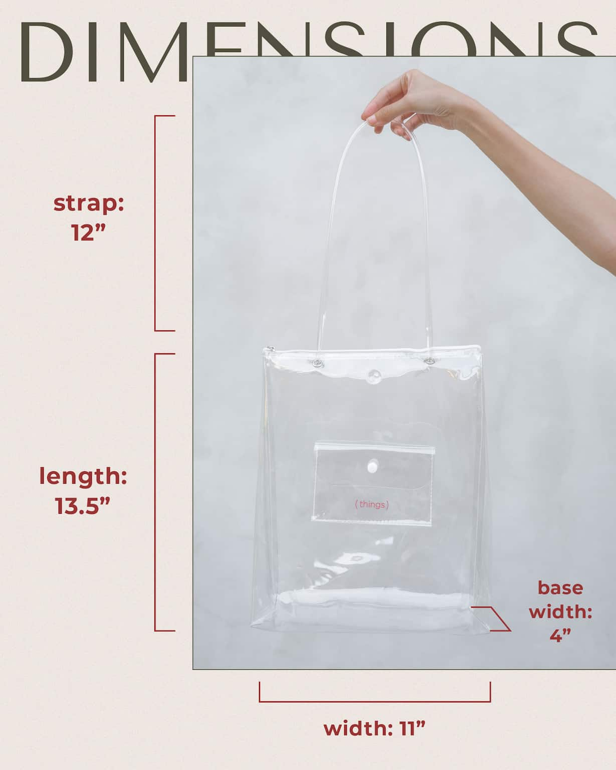Clarity bag size