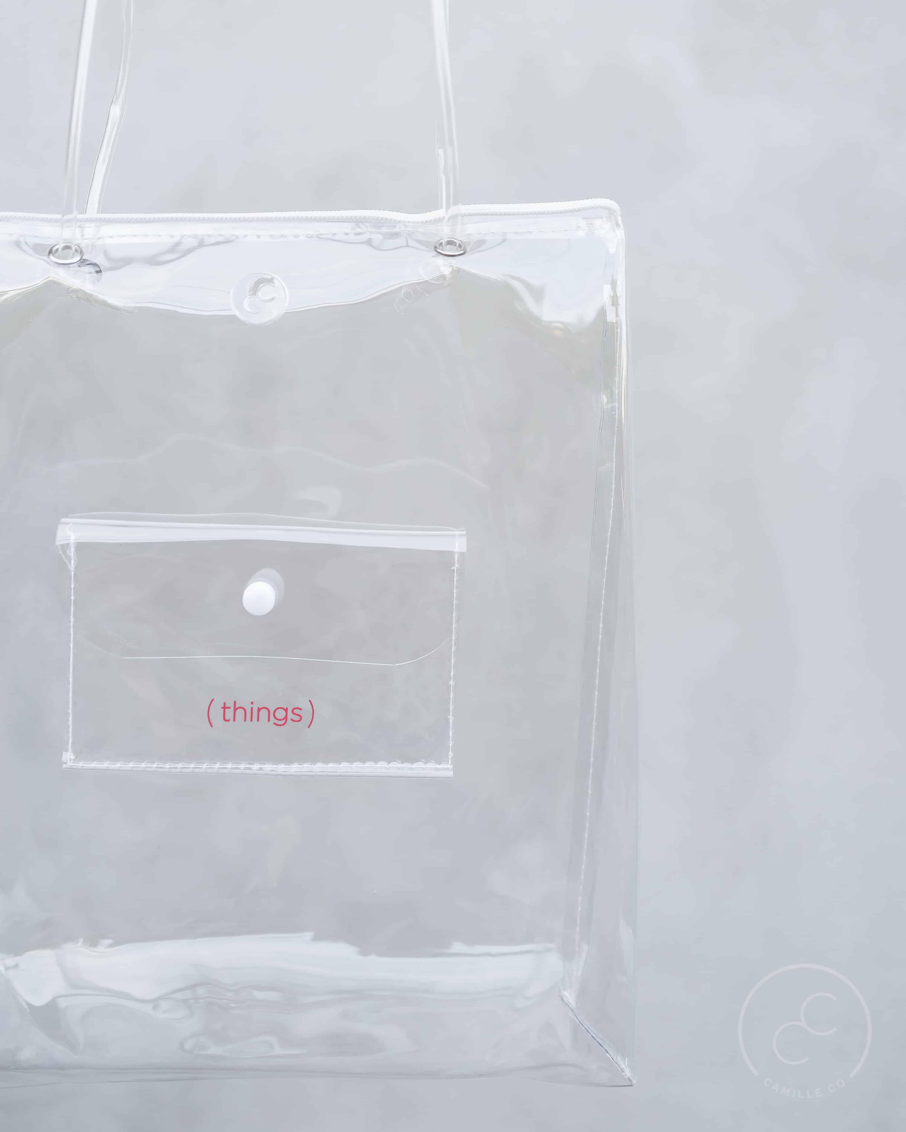 Clarity bag clear print