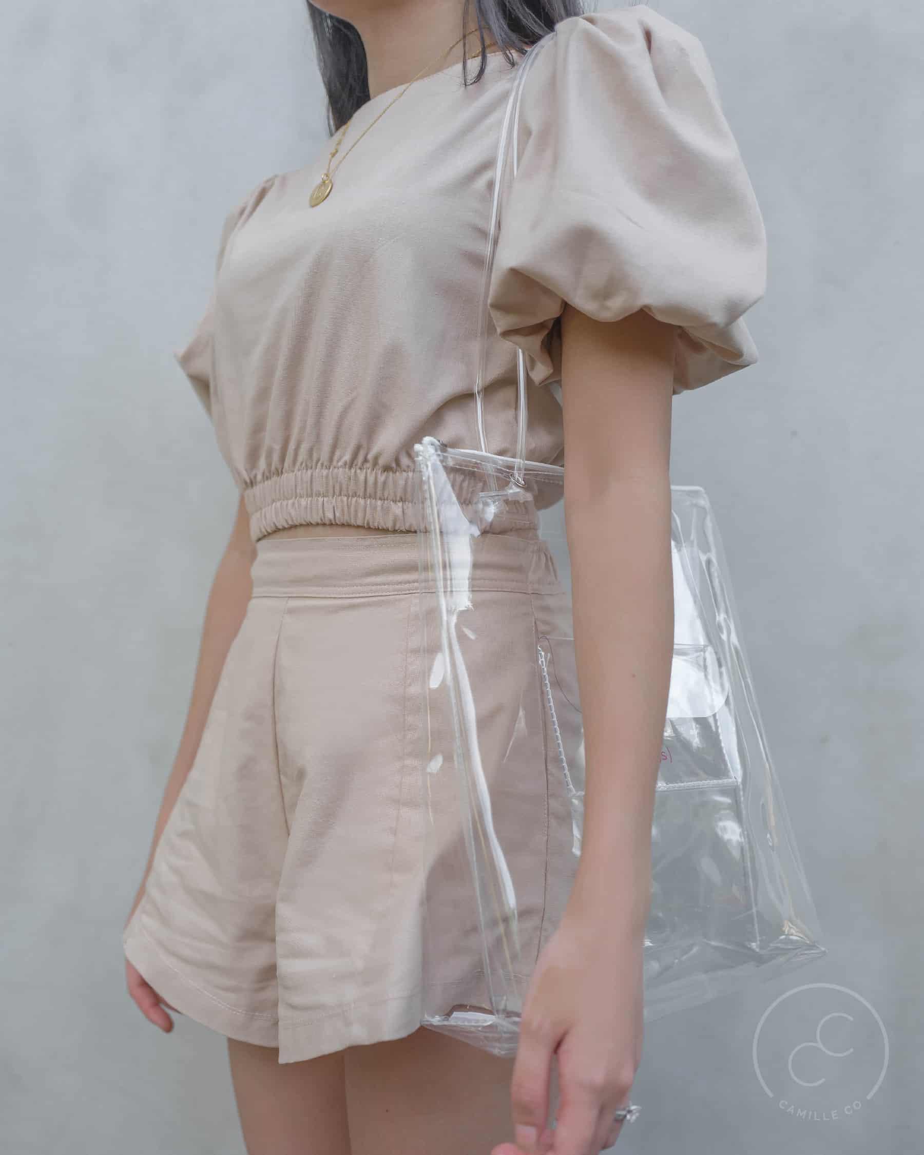 Clarity bag clear side worn